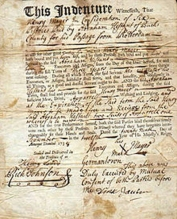 indentured servitude contract