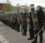 Baltimore riot police