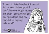 child support mom